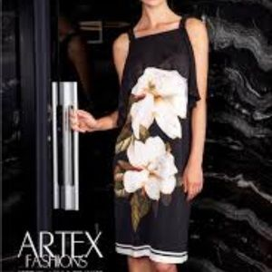 Artex black and white floral dress